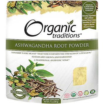 Organic Traditions Organic Ashwagandha Root Powder 7 oz (200 grams) Pkg