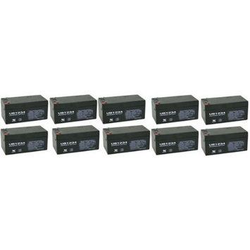 12 volt 3.4 Ah SLA Battery - 10 Pack