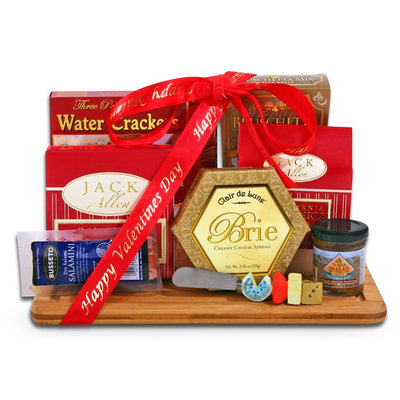 Alder Creek Gift Baskets Valentine Gourmet Gift Board Holiday Gift Set, 9 pc