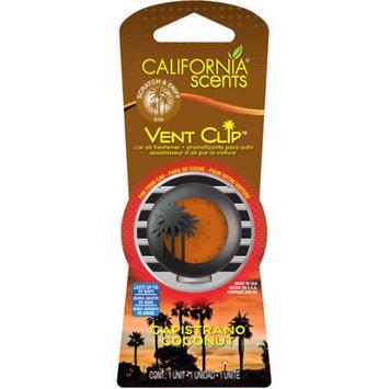 California Scents Vent Clip Capistrano Coconut Car Air Freshener