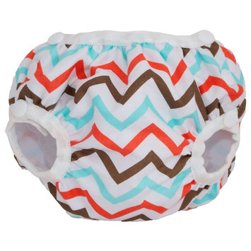 Smart Bottoms Side Snapping Swim Bottoms - Baby, Chevron