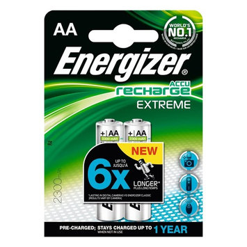 2pk Rechargeable Extreme AA Batteries