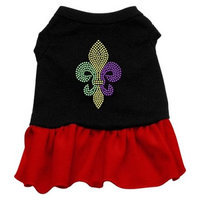 Ahi Mardi Gras Fleur De Lis Rhinestone Dress Black with Red Sm (10)