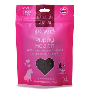 Get Naked Puppy Health Grain Free Dental Chew Sticks, Small 6.2oz