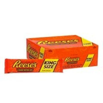 REESE'S Peanut Butter Cups, Chocolate Candy, Halloween Candy, King Size (Pack of 24)
