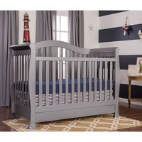 Dream On Me Addison 5-in-1 Convertible Crib with Storage in Storm Gray