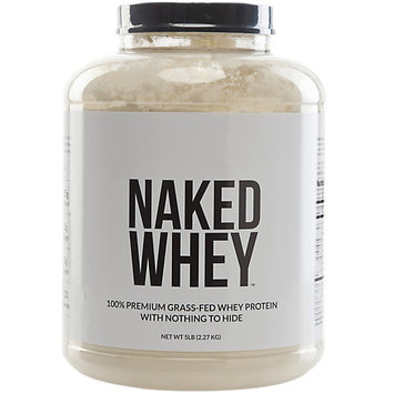 Naked Nutrition NAKED WHEY - #1 Undenatured 100% Grass Fed Whey Protein Powder from California Farms - 5lb Bulk, GMO