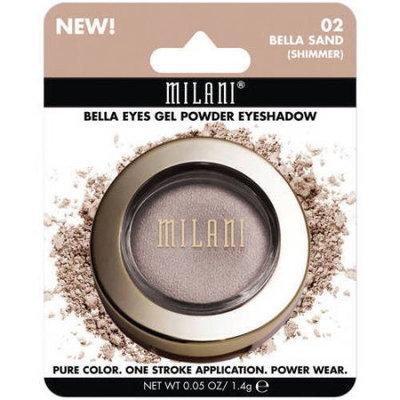 Milani Bella Eyes Gel Powder Eyeshadow, 02 Bella Sand Shimmer, 0.05 oz