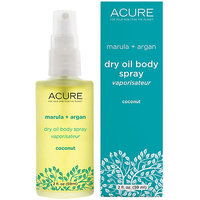 Acure Marula & Argan Dry Oil Body Spray, Coconut, 2 Oz