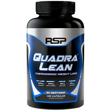 Game Time Supplements RSP Nutrition Thermogenic QuadraLean Weight Loss Support & Clean Energy 180 Caps