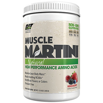 German American Technologies GAT Muscle Martini Natural, Mixed Berry, 30 Servings