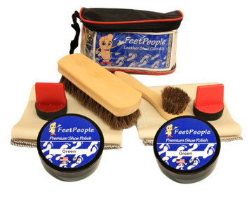 FeetPeople Ultimate Leather Care Kit with Travel Bag, Green
