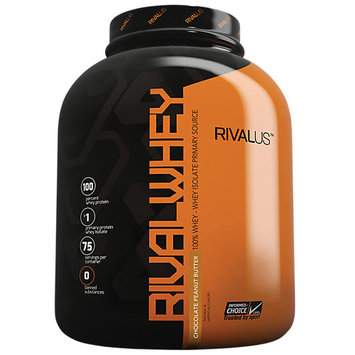 Rivalus Rival Whey, Chocolate Peanut Butter, 75 Servings