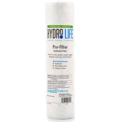 Camco Hydro Life 52711 Hydroponics Sediment/Pre-Filter Replacement Cartridge