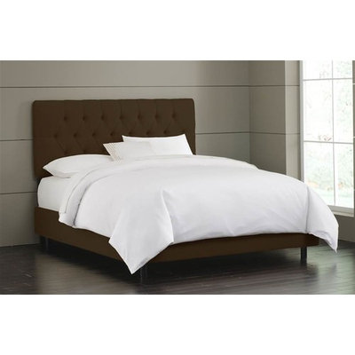 Tufted Bed w Foam Padding in Chocolate (Twin)