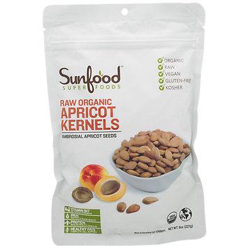 SunFood Superfoods Raw Organic Apricot Kernels 8 oz - Vegan