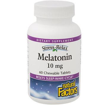 Natural Factors - Stress-Relax Melatonin 10 mg. - 60 Chewable Tablets