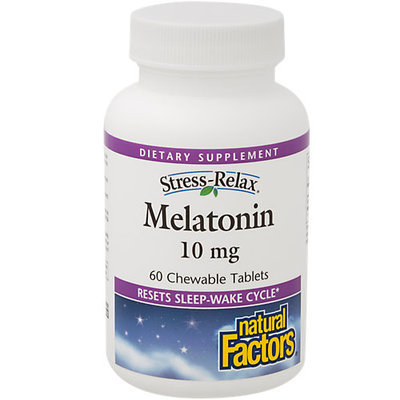 Natural Factors - Stress-Relax Melatonin 10 mg. - 60 Chewable Tablets