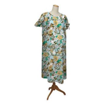 Farallon the peanut shell Hospital Gown, Boho Chic, Large/X-Large
