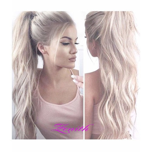 Zenith Dark Brown Rooted Light Blonde Lace Front Wigs for Women Best Synthetic Hair Wavy Wig with Flawless Hairline 22 inches Heat Safe