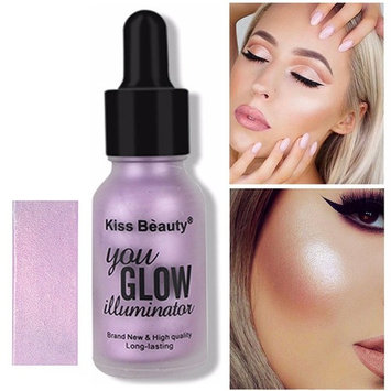 Urberry Highlighter Make Up Cream Concealer Shimmer Face Concealer Eye Glow Glitter Brighten Shimmer Highlighters drops (Purple)