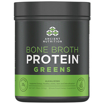 Ancient Nutrition Bone Broth Protein Powder - Greens - 17.8oz Gut Friendly