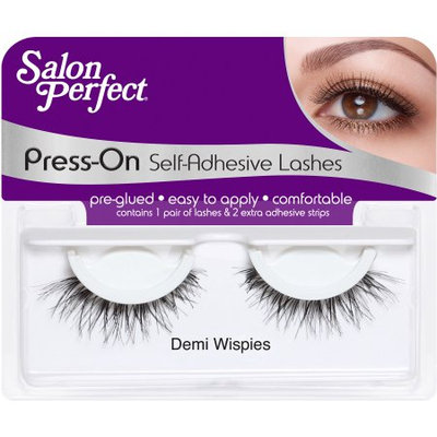 American International Ind Salon Perfect Press-On Self Adhesive Eyelashes, Demi Wispies, 1 pr