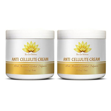 Cellulite firming - ANTI CELLULITE CREAM with Natural Herbal Infusion - Creme for women - 2 Jars (8 oz)