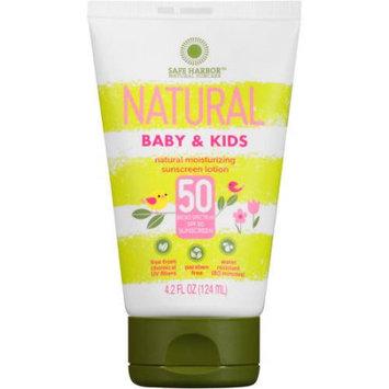 Safe Harbor Natural Baby & Kids Sunscreen Lotion, SPF 50, 4.2 fl oz