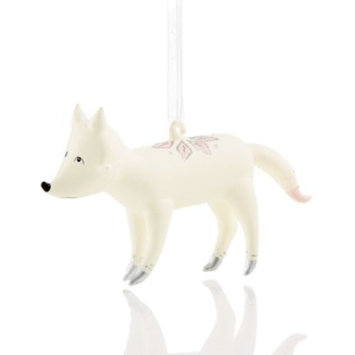 White Fox Ornament, Created for Macy's