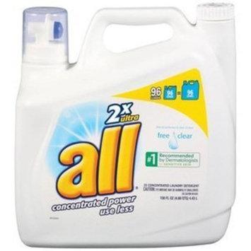 All 2x Ultra Free Clear Liquid Laundry Detergent, 150 Oz []