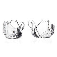 Godinger Silver Art Swan Shaped Crystal Votive Candle Holders - Set OF 2