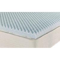 Brooklyn Bedding Ipedic Convoluted 2'' Gel Memory Foam Mattress Topper