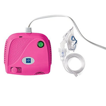 Compact Piston Compressor with Full Mask Kit in Pink