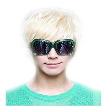 Unisex Cosplay Short Straight Hair Wig Women Men Anime Party Costume Dresses Wigs