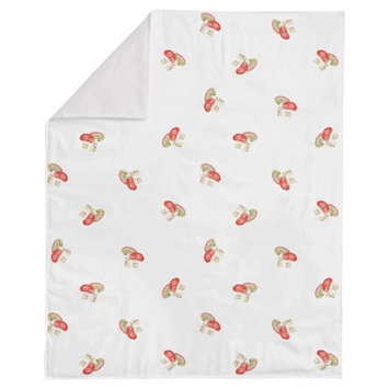 Woodland Critters Mushroom Minky Blanket by Oliver Gal
