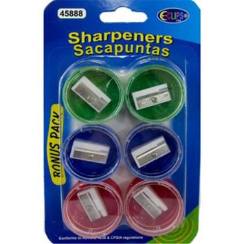 Eclips USA 2273641 Pencil Sharpeners - Assorted Colors Case of 48 - Pack of 6