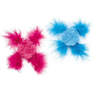 Savvy Tabby Chirping Feather Ball Canisters 8In. X 6.25In. X 6In.