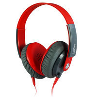 Cliptec Red Clubz Muisc Stereo 3.5mm Wired Volume Control Headset Earphone On Ear Headphone w/Mic