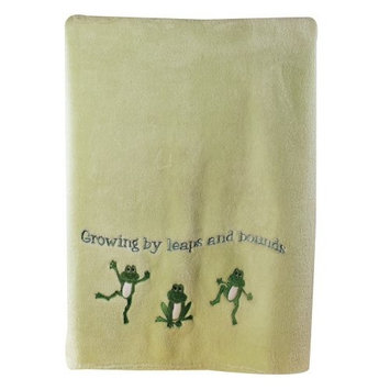 Manual Woodworkers Growing by Leaps and Bounds Fleece Blanket - Green, 30