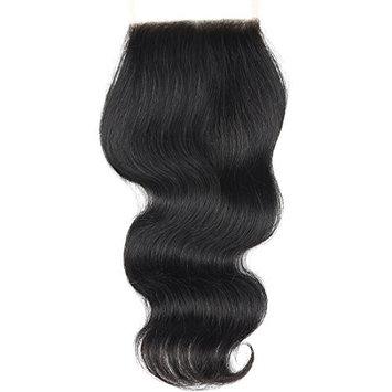 BLACKMOON HAIR(TM) 16 Inch Body Wave Free Part Lace Closure 130% Density 4