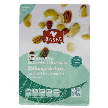 Basse Nuts Basse Selected Deluxe Mix Nut & Seed Health Mix (7oz.) Hazelnuts Brazil Nuts Cashews Nutritious Delicious Luscious Scrumptious