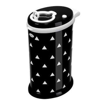 Ubbi Steel Diaper Pail - Black Triangles