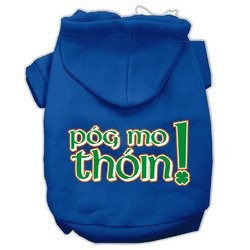 Mirage Pet Products Pog Mo Thoin Screen Print Pet Hoodies Blue Size XS (8)