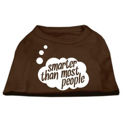Ahi Smarter then Most People Screen Printed Dog Shirt Brown XXL (18)