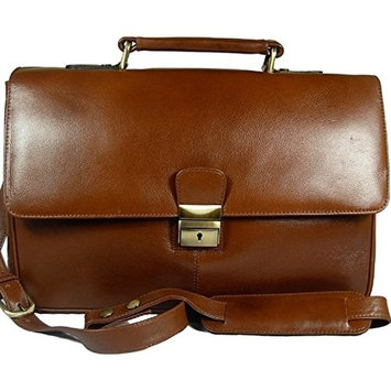 Mens Visconti medium size Tuscan brown leather business briefcase organiser bag Style 18074