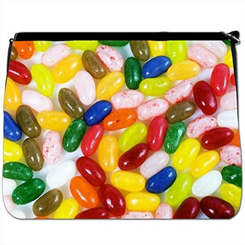 Candy Delight Chocolate Sweets Black Large Messenger School Bag [Candy Delight Chocolate Sweets]