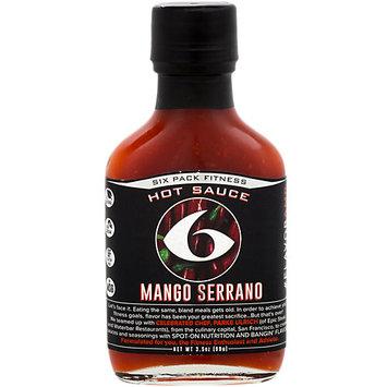 6 Pack Fitness Mango Serrano Hot Sauce
