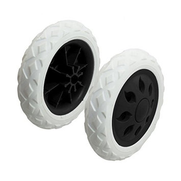 TOOGOO(R) 2 Pcs Black White Hot Wheel Design Travelling Luggage Cart Wheels