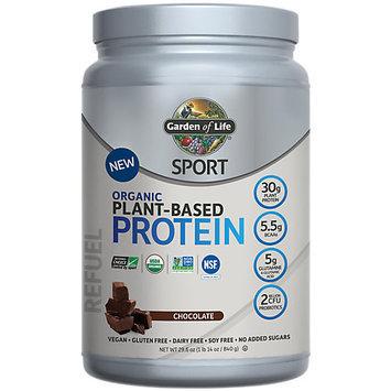 Sport Organic Plant-Based Protein Chocolate Garden of Life 840 grams Powder